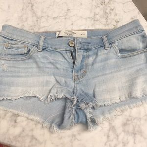 Abercrombie & Fitch size 00 24 blue jean shorts